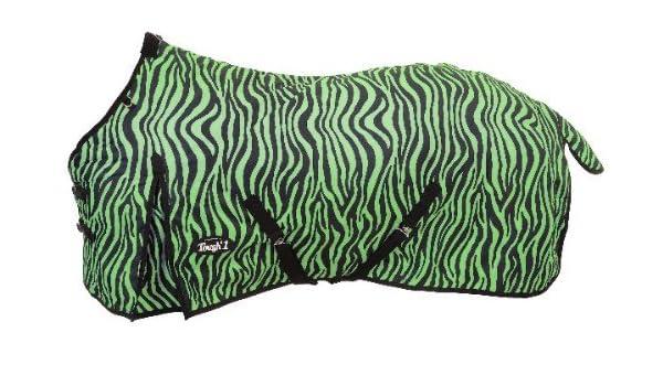 "Tough 1 600 Denier Poly Green Zebra Horse Sheet 81/"" Horse Tack Equine"