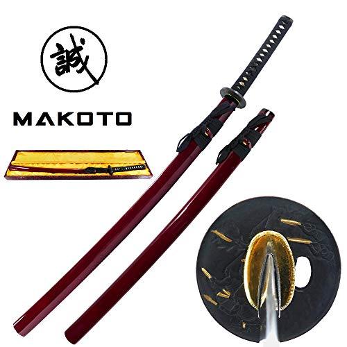 - MAKOTO Handmade Sharp Katana Samurai Functional Sword 41