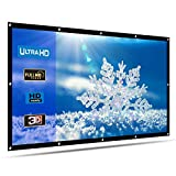 HENZIN 120'' Inch Projection Screen 16:9 HD 4K Portable Projector Screen Foldable for Home Theater Cinema Indoor Outdoor Front and Rear Simple Projection