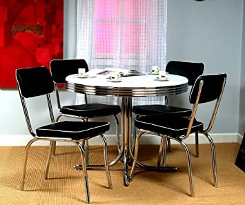 Amazon.com - Target Marketing Systems 5 Piece Retro Dining Set ...
