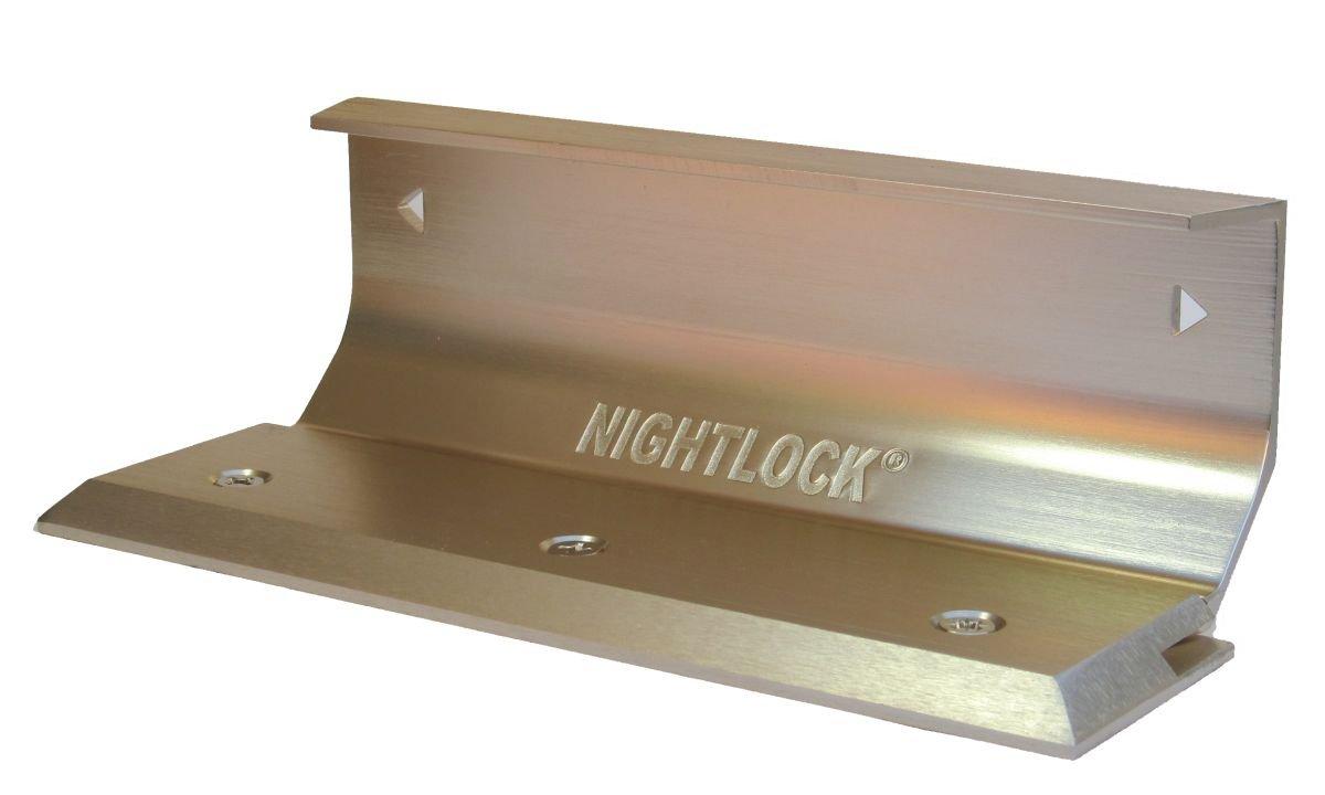 Nightlock Security Lock Door Barricade Brushed Nickel by Nightlock Taylor Brothers Door Lock 14002