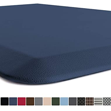 GORILLA GRIP Original Premium Anti Fatigue Comfort Mat, Phthalate Free, Ergonomically Engineered, Extra Support and Thick, Home Kitchen and Office Standing Desk Mats, 24x17, Navy Blue