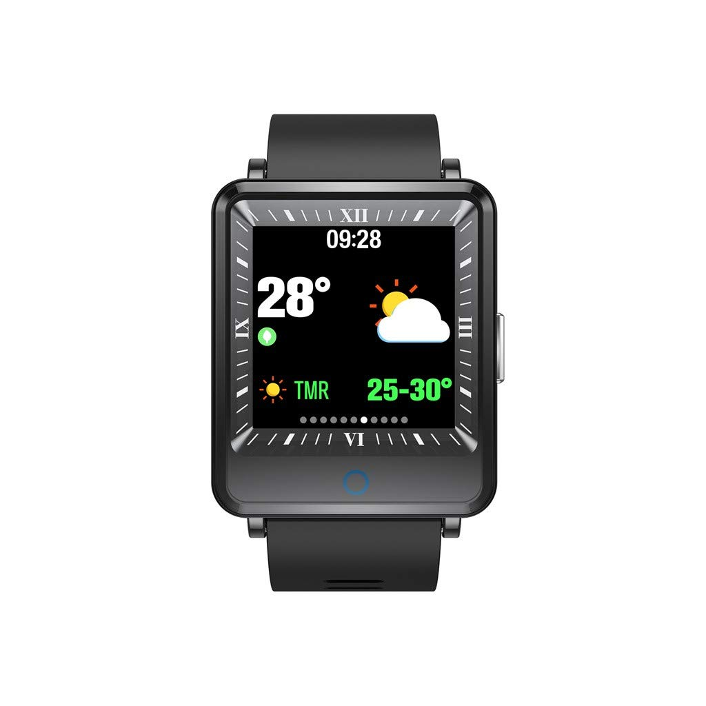 WELCOMEUNI 1.3inch Color Screen Blood Pressure Heart Rate Monitor Smart Watch Bracelet Fitness Watch Activity Tracker