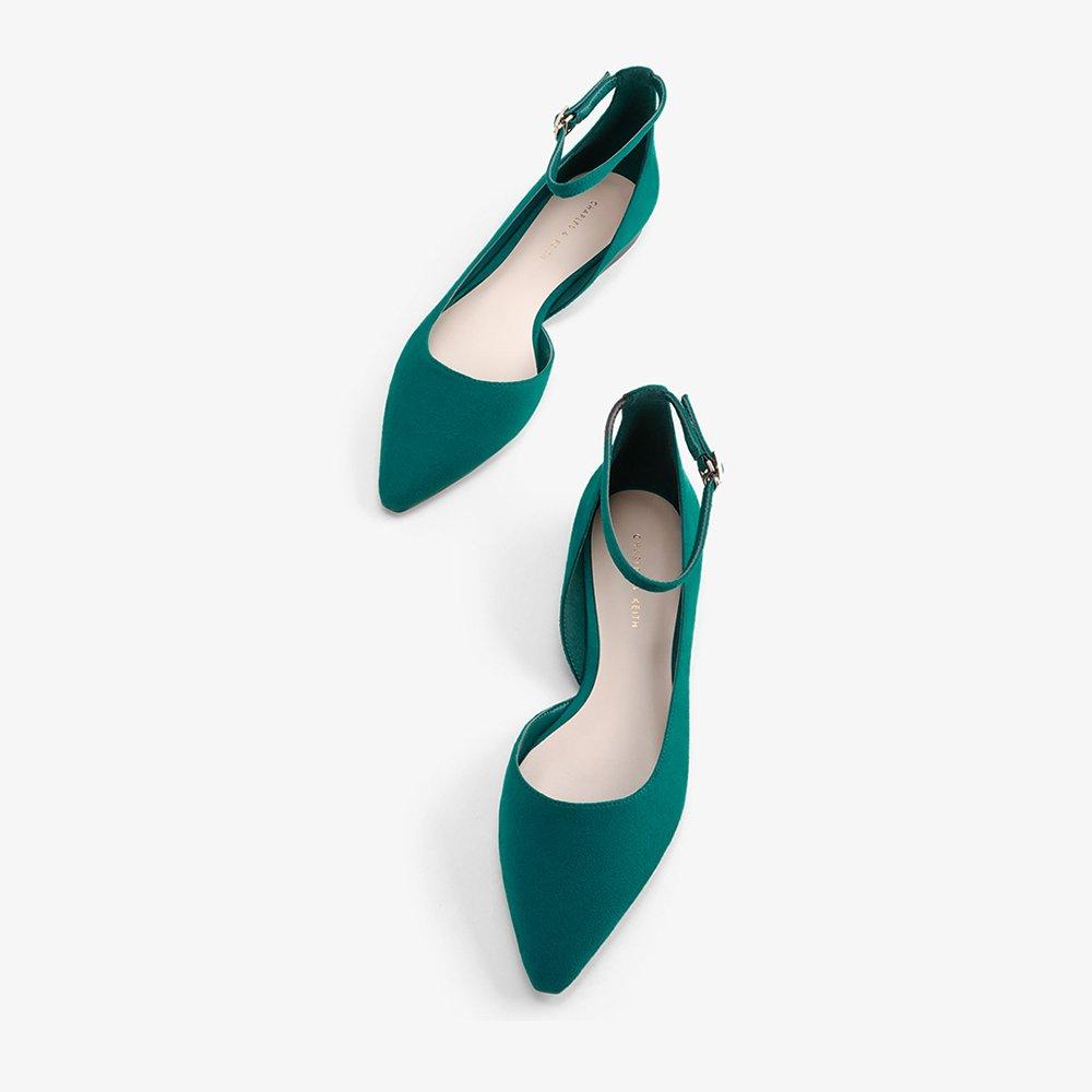 YQQ Zapatos Planos Tacones Bajos Zapatos Individuales Sandalias De Verano Dama Chica Joven Zapatos De Mujer Acogedor Moda Hebilla (Color : Green, ...