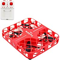 BTG DHD D3 Mini Reddie RC Nano Drone 2.4G 4CH 6Axis Gyro RC Quadcopter Anti-Crush UFO Headless Mode/3D Flips/ 360° Rolls/Hover/One Key Return for Beginners/Kids