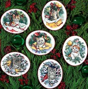 Dimensions Kitty Keepsake Ornaments Cntd X-Stitch Kit-Set Of 6 (Cntd Kit Stitch Cross)