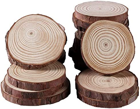 rustic decor rustic home decor wood rounds 1 till 4 inches wooden slices 10 Quality sanded Birch wood slices 3 till 8 cm