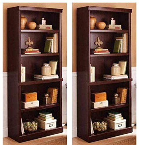 Better Homes and Gardens Ashwood Road 5-Shelf Bookcase Cherry, Set of 2 + Furniture Polish from Better Homes & Gardens