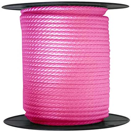 """ANCHOR ROPE DOCK LINE 5//8/"""" X 50/' BRAIDED 100/% NYLON PINK MADE IN USA"""