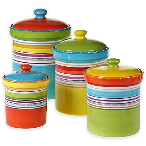 Mariachi 4-Piece Canister Set in Multi by Generic by Generic