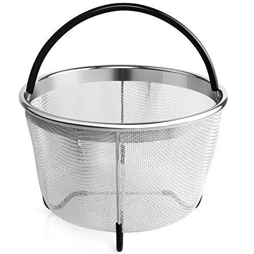Aterod Steamer Basket for 6 or 8 Quart Instant Pot Pressure Cooker, Stainless Steel Steam Insert with Premium Silicone Handle and Non-Slip Legs for 6 or 8 quart Instant Pot,Other Pressure Cookers/Pots