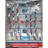 Candy Cane Hockey Sticks with Candy Puck - Officially Licensed NHL Gift Set