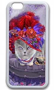 Cats In Fancy Hats Thanksgiving Halloween Masterpiece Limited Design TPU White Case for iPhone 6 Plus by Cases & Mousepads