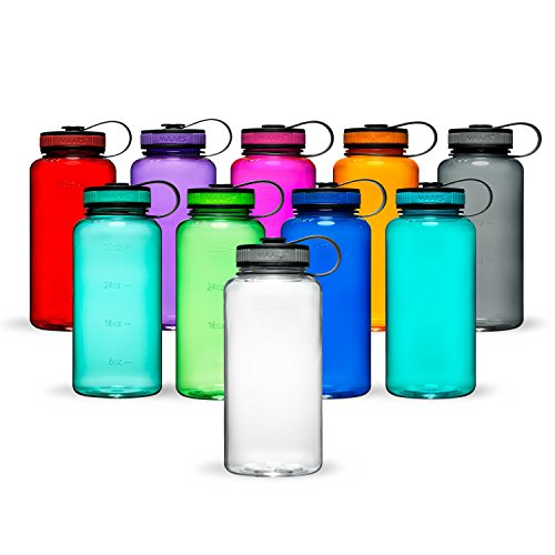 Maars Tritan Wide Mouth 34 oz. BPA-Free Sports Water Bottle