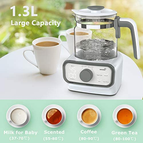 51hc%2B1UVJYL. AC - Baby Instant Warmer, Bottle Warmer With Accurate Temperature Control For Formula, Coffee And Tea, 1.3 Liter Formula Dispenser With LCD Display And Timer