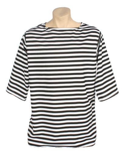 Alexanders Costumes Striped Shirt, Black, Large