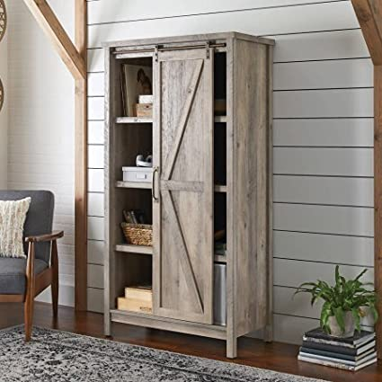 Gentil Better Homes And Gardens Modern Farmhouse Storage Cabinet, Rustic Gray  Finish By Dreamsales