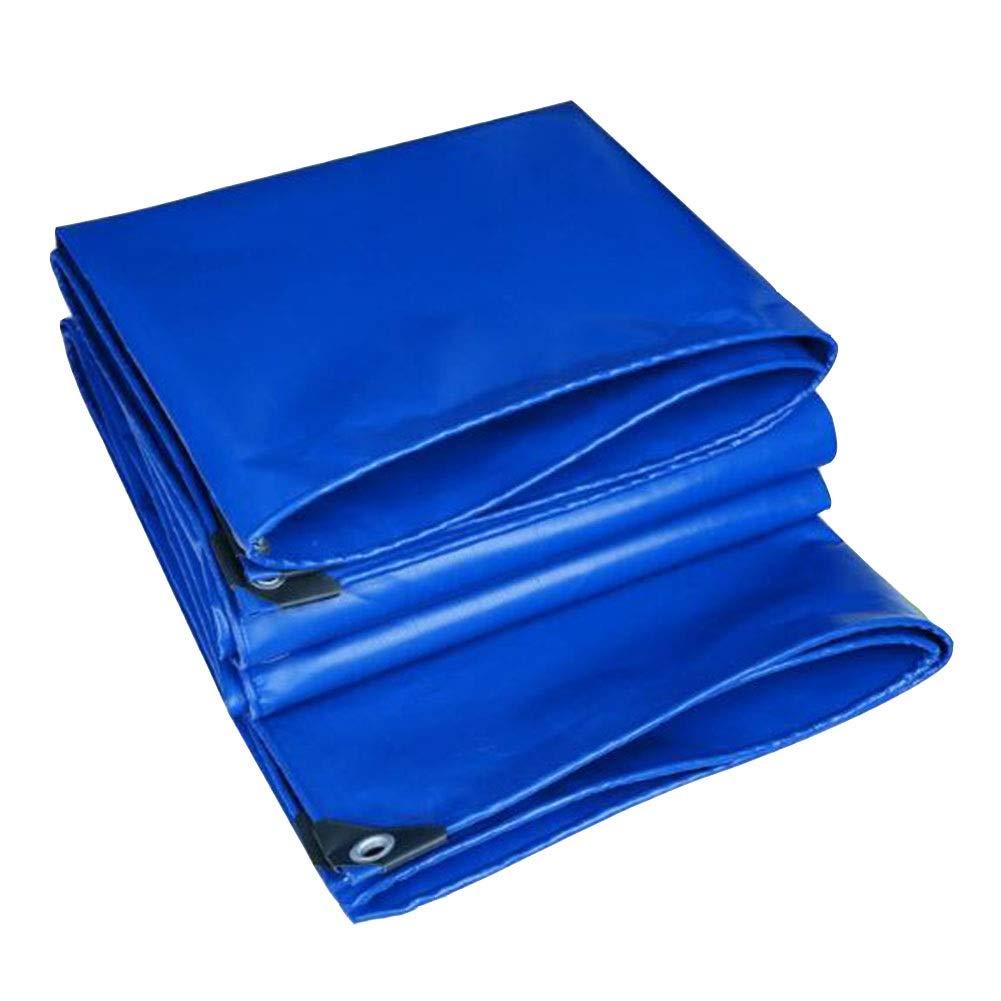 DALL ターポリン ヘビーデューティ 多目的 防水 UVプロテクト 引裂抵抗 厚さ0.55mm 560g / M 2 マルチサイズ (Color : 青, Size : 4×6m) 青 4×6m