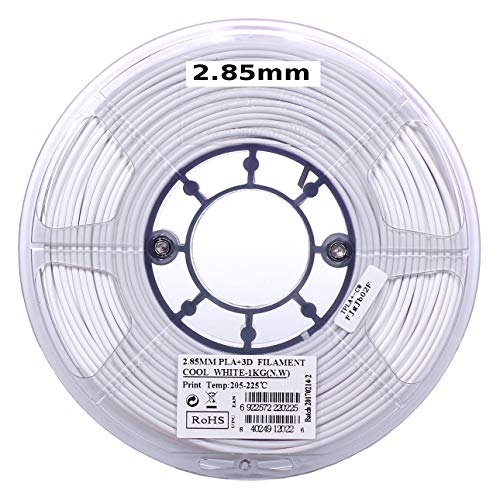 eSUN 3mm Cool White PLA PRO (PLA+) 3D Printer Filament 1KG Spool (2.2lbs), Actual Diameter 2.85mm +/- 0.05mm, Cool White