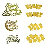 "#6: Cake Toppers Glod glitter letters ""Happy Birthday"
