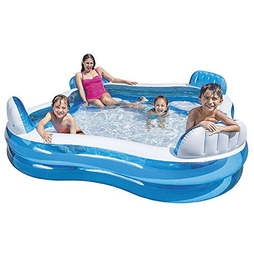 Intex Swim Center Family Lounge Inflatable Pool 90 X 90 X Import It All