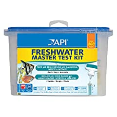 Most water problems are invisible to the eye. Quickly measure and modify the six aquarium levels that are most important to the health of your freshwater fish with the API FRESHWATER MASTER TEST KIT. To stay healthy and thrive, fish need prop...
