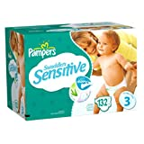 Pampers Swaddlers Sensitive Size 3 Economy Plus Pack, 132 Count