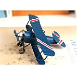 TTKBHHQ 3pc Vintage Metal Planes Model Iron Retro
