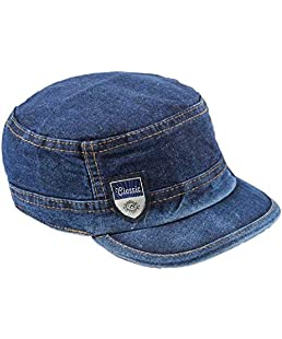 FRIENDSKART Men's Self Design Skull Jeans Cap (Blue)
