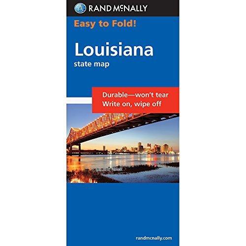 Rand McNally Easy to Fold: Louisiana (Laminated) (Rand McNally Easyfinder) by Rand McNally - Map Mall Louisiana