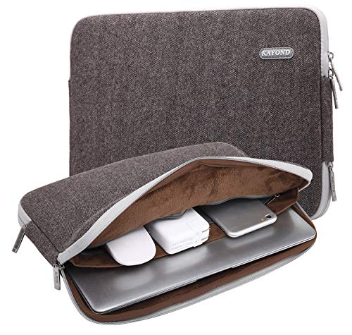 KAYOND Herringbone Woollen Water-resistant for 15-15.6 Inch Laptop Sleeve Case Bag (15-15.6 Inches, Brown)