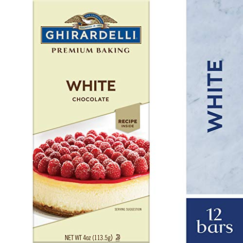 Ghirardelli Premium Baking bar, White Chocolate, 4 Oz (Pack Of 12) (Chocolate Bar For Melting)