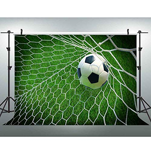 VVM 7x5ft Football Backdrop Soccer Pitch Photography Background for Pictures Outdoor Sports YouTube Backdrop -