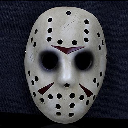 Terrible Terror Costume (2015 - Friday the13th Jason Voorhees face Mask eye hockey ivory myers masquerade Terrible terror prop Halloween Costume Party)
