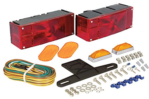 Optronics TL16RK Red Waterproof Universal Mount Combination Tail Light Kit