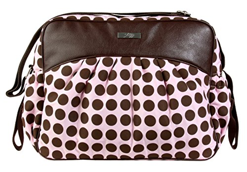 Kalencom Jazz Collection, Heavenly Dots Pink/Chocolate by Kalencom