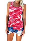 camouflage tank for women - Geckatte Women's Casual Sleeveless Camouflage Tank Tops Camo Shirts Plus Size