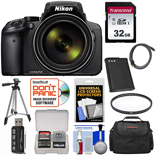 Nikon Coolpix P900 Wi-Fi 83x Zoom Digital Camera with 32GB Card + Battery + Case + Tripod + Filter + HDMI Cable + Kit (Best Coolpix Camera 2019)