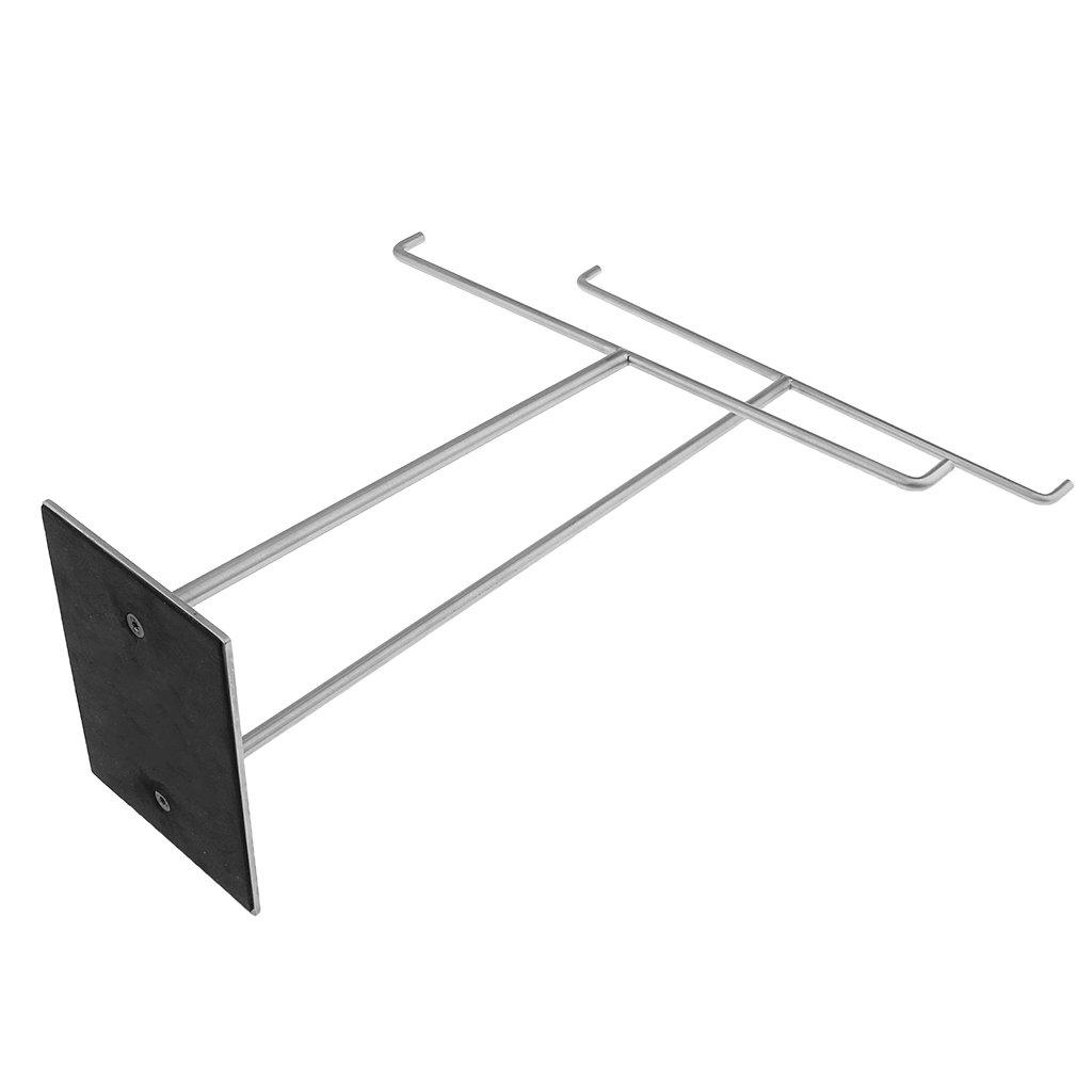 MagiDeal Pr/ésentoir Support Porte Stand de Foulards Echarpe Cravate Serviette en Acier INOX Durable et Stable