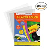 #5: Bonsaii 3-layer Thermal Laminating Pouches,9 Inches x 11.5 Inches,3 Mil Thick,100 Pack