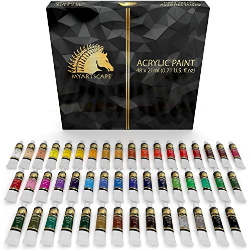 Acrylic Paint Set - 48 x 21ml Tubes - Artist Quality Art Paints - MyArtscape