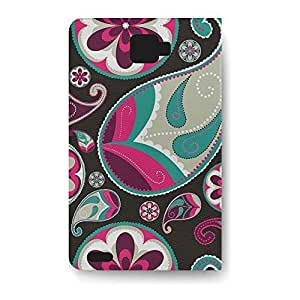 Leather Folio Phone Case For Samsung Galaxy Note 1 Leather Folio - Sassy Paisley Wallet Protective