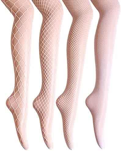 47391c493a9 Fishnet Stockings High Waist Tights for Women Cross Thigh High Pantyhose