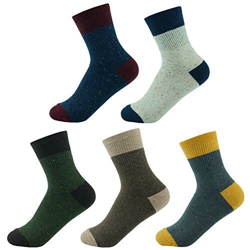 PnD Women's Assorted Colorful Cute Design Cotton Casual Crew Socks 5 Pack (Vintage) from PnD
