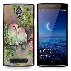 """Pulsar Snap-on Series Teléfono Carcasa Funda Case Caso para OPPO Find 7 X9077 X9007 , Amantes amor Pintura Naturaleza Mano"""""""