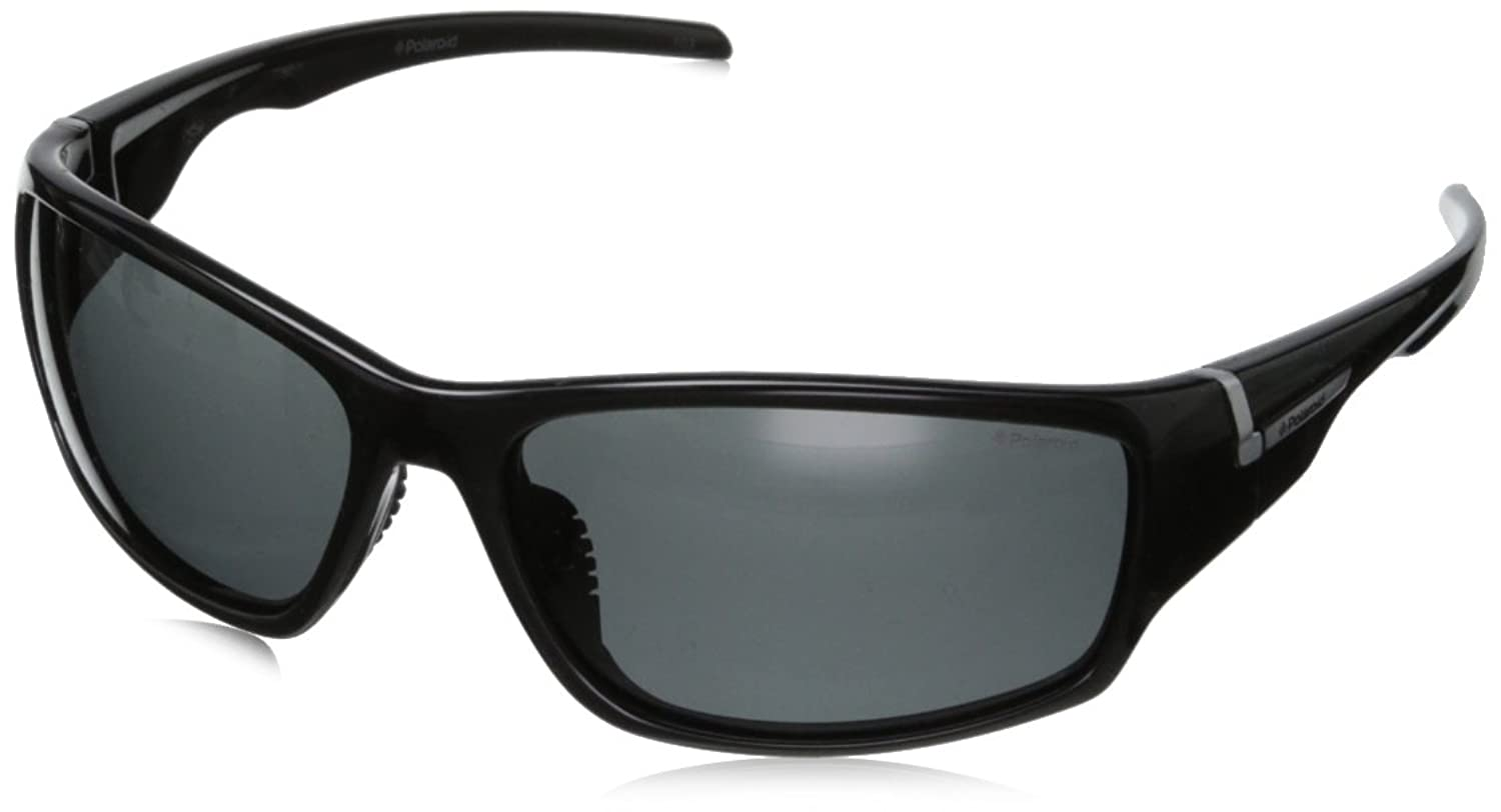 Polaroid P7407S Polarized Wrap Sunglasses