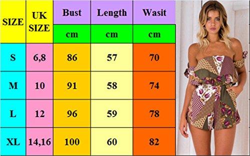 Royaume-uni Des Femmes De Vacances De Style Mini-dames Combishort Salopette Short D'été Robe De Plage 6-16: P Style Uk Taille 10: F Taille Uk 8