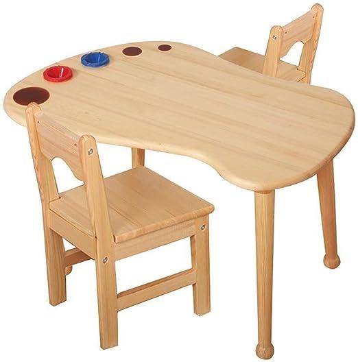 DX Mesa de Estudio de los niños Niños mesas de Madera y sillas ...