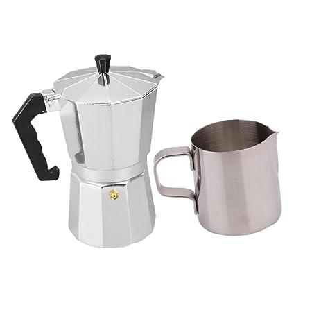B Blesiya - Cocina de acero inoxidable de 350 ml, leche de café ...