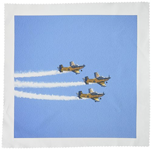 3dRose qs_75993_5 New Zealand, Warbirds Over Wanaka, Vintage Airplanes-AU02 DWA5974-David Wall-Quilt Square, 14 by 14-Inch ()